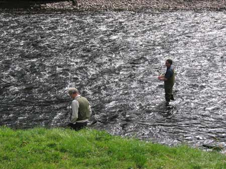 James fishing the Spey at Wester Elchies