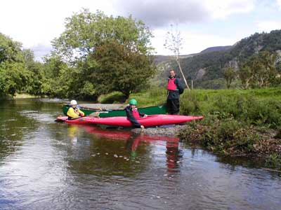 Basic River skills, Upper Derwent. Borrowdale