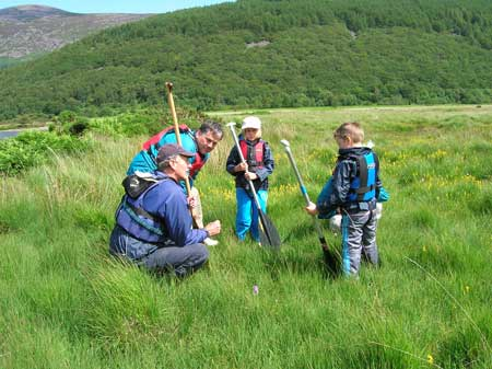 Looking at wild bog plants Ennerdale