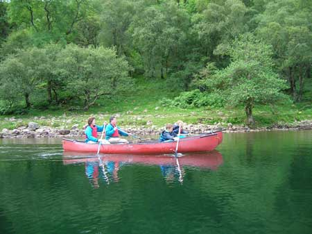 A canoe raft makes a stable platform to explore the shores and bogs of Ennerdale
