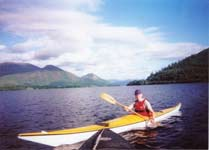 Carol sea kayaking on Bassenthwaite