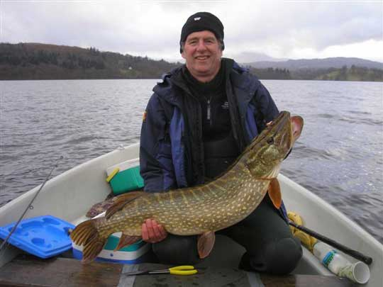 Windermere Pike 24lb 8oz. Winter lure fishing